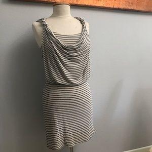 Anthro Weston Land of Springs Striped Cowl Dress